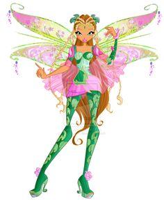 Fee van de natuur Flora verdient haar Bloomix krachten nadat ze haar zusje, Miele had gered van de Treanten die Selina uit het Legendarium boek had opgeroepen.