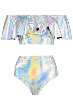 Holographic and Knicker Short Co-ord Set Girls Fashion Clothes, Kids Outfits Girls, Cute Girl Outfits, Teen Fashion Outfits, Cute Casual Outfits, Pretty Outfits, Girl Fashion, Rave Outfits, Swag Outfits