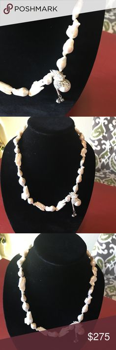Neckless. Hand made. Real big water peal  made by hand Jewelry Necklaces