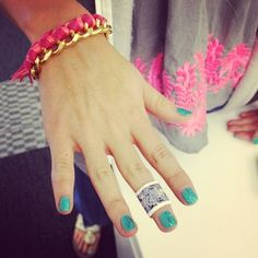 Sparkly nails + Cynthia Rowley #BandAids  birch.ly/Otc2eu
