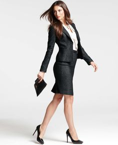 Timeless tweed with a hint of feminine style. I've seen this in the store and it is even cuter!