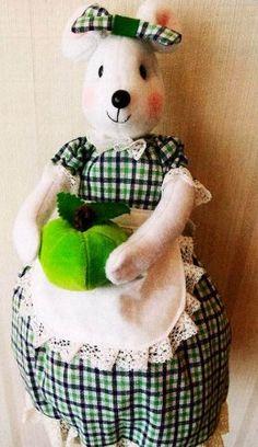 Кукла-пакетница мк с выкройкой Felt, Teddy Bear, Cool Stuff, Sewing, Animals, Fabric Dolls, Craft, Kitchens, Sacks