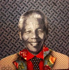 dids world: June 2010 Mandela against a background of shweshwe fabric African Love, African Design, 2014 Fashion Trends, Dearly Beloved, African Diaspora, Natural Styles, Nelson Mandela, Africa Fashion, African Fabric