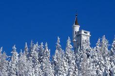 Aussichtsturm auf der Mariazeller Bürgeralpe im Winter