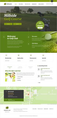 Millside is beautifully design premium #Bootstrap #template for #Golf and Sports club website with 4 unique homepage layouts download now➩ https://themeforest.net/item/millside-golf-and-sport-website-template/16920862?ref=Datasata