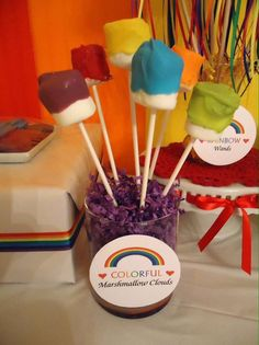 Rainbow 2nd Birthday | CatchMyParty.com