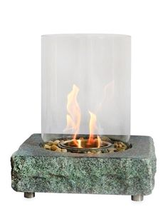 Hot! - Eco-Flame granite table top fireplace