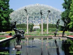 Climatron, Botanical Gardens, St. Louis, Missouri.  This glasshouse symbolized a new era when it opened in 1959.  It's geodesic dome focused for the first time on climate control.