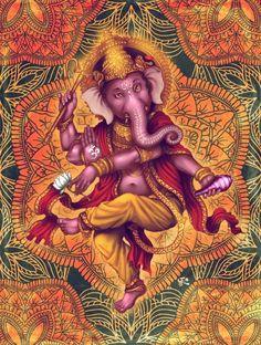 Ganesha (Color Variation 2) Art Print