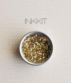 gold glitter 1/2 oz by inkkit on Etsy, $2.50