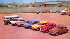Linha completa de modelos VW para 1976 (Kombi, Passat, SP2, Brasília, Variant, Sedã 1600 e 1300.