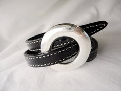 Black leather bracelet mens leather wrap by mitallerdenubes, €21.00