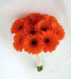 Gerbera Daisies (inexpensive) Brides Bouquet