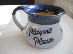 Excited to share the latest addition to my #etsy shop: Players Navy Cut Water Jug 'Player's Please' logo c.1950 http://etsy.me/2FSGOSP #vintage #collectables #tobaccocollectibles