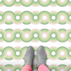 An individually printed modern vinyl floor covering created in-house to your unique room size. Vinyl Floor Covering, Vinyl Flooring, Flooring Ideas, Dots Design, Floor Design, Contemporary, Modern, Kawaii, Kids Rugs