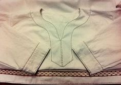 lovely stitching, and nice double herringbone at dthe bottom.