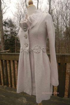 Elie Tahari Wool Coat in winter white | Coat Shopping ...