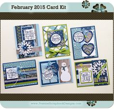 FEBRUARY 2015 All Occasions PremierScrapbookDesigns.com Card Kit #cardmaking…