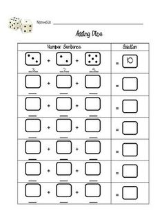 This is just a worksheet to help students practice addition with 3 addends. Students can work individually or in groups to roll 3 dice, r...