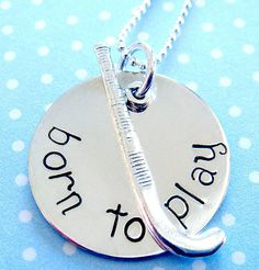 Field Hockey Necklace. Want this!