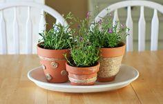 Flower pot cuteness.