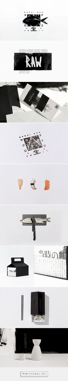 RAW packaging branding on Behance by Futura curated by Packaging Diva PD. Raw, an impeccable sushi bar located in Kuwait.