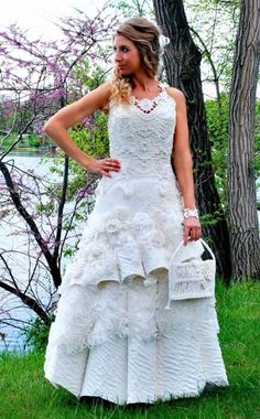 123a1ecb Toilet Paper Wedding Dress Competition - Gorgeous Wedding Dresses Made From  Toilet Paper - Good Housekeeping