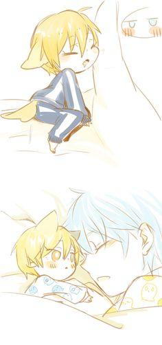 Tags: Anime, Sleepwear, Adorably Cute, Kuroko no Basket, Kise Ryouta, Kuroko Tetsuya, Leo (Pixiv1174511)