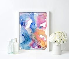 Check out our gallery wall selection for the very best in unique or custom, handmade pieces from our wall décor shops. Abstract Watercolor, Abstract Art, Modern Art, Contemporary Art, Minimalist Art, Wall Prints, Giclee Print, Whimsical, Gallery Wall
