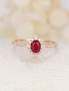 Oval natural ruby engagement ring vintage engagement ring unique Rose gold Half eternity diamond band wedding Bridal Anniversary – Famous Last Words Ruby Engagement Ring Vintage, Engagement Solitaire, Gold Diamond Wedding Band, Halo Diamond, Uncut Diamond, Jade Ring, Lauren, Bridal Jewelry Sets, Ring Verlobung