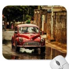 Red Retromobile Morris Minor ((Ltd Edition of only 20 Fine Art Giclee Prints) by Jenny Rainbow Fine Art Photography. This classic red Morris Minor I met on the wet street of Mauritius. It looked. Rainbow Photography, Car Photography, Fine Art Photography, Street Photography, Art Prints For Home, Fine Art Prints, Framed Prints, Framed Art, Morris Minor