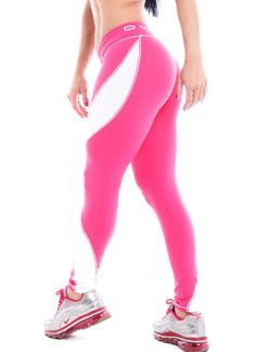 Legging  pink with white  waves