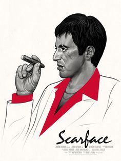My Scarface poster drops today at the Mondo booth at Wondercon. I was really excited when they asked me to do this. I love the movie, in all it's 80's glory. It was the first time I ever saw the...