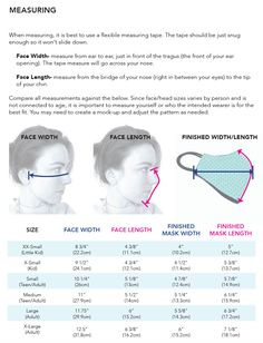 Easy Face Masks, Diy Face Mask, Homemade Face Masks, Sewing Hacks, Sewing Projects, Diy Masque, Sewing Patterns For Kids, Pattern Sewing, Free Pattern