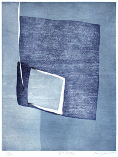 blu dipinto di blu Wishing for the Sky by Goto Hidehiko, Japan Claude Monet, Surface Design, Japanese Art Modern, Art Chinois, Kind Of Blue, Color Of Life, Woodblock Print, Art Images, Art Boards