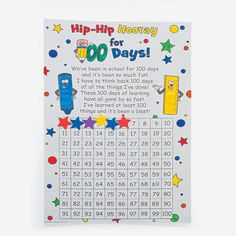 Color Your Own 100th DayCountdown Calendars - OrientalTrading.com