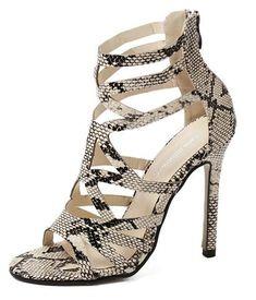 15358a97ae91 Sexy snakeskin stiletto high heels for the modern fashionista - Unique  design… Gladiator Sandals