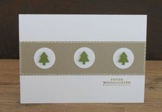 Alexander saved to outfitFake-Nähen - Stampin Up Christmas, Christmas Cards To Make, Christmas Greeting Cards, Diy Christmas Gifts, Christmas Greetings, Handmade Christmas, Holiday Cards, Paper Cards, Diy Cards