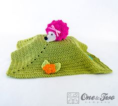 Hedgehog Lovey / Security Blanket  PDF Crochet by oneandtwocompany