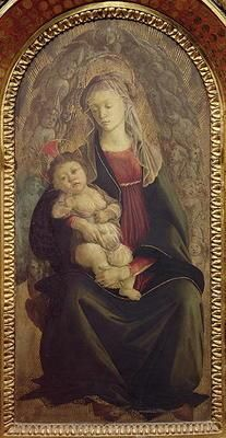 Botticelli Sandro - Madonna and Child in Glory (tempera on panel) (for detail see 107250)