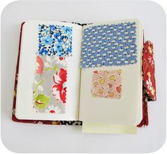Swatch Book Pages- add name of fabric & its great idea for keeping track of favorite fabrics
