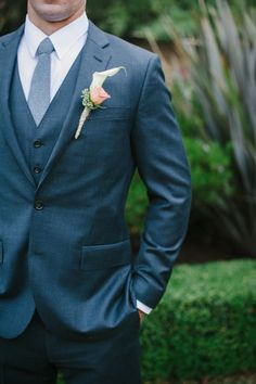A dapper groom: http://www.stylemepretty.com/2013/05/28/backyard-california-wedding-from-pictilio/ | Photography: Pictilio - http://pictilio.com/