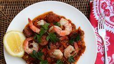 Spanish lentils with prawns and chorizo recipe