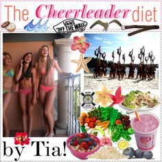 The cheerleader diet! ♥, created by withlovecharlotte