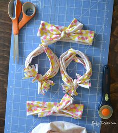 How to make no-sew jersey knit headbands - no sew
