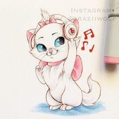 Marie   The Aristocats   Fan Art   craziiwolf's photo on Instagram