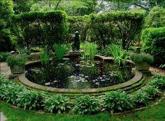 Circular Flower Garden That Makes You Happy 40 Ponds Backyard, Garden Pool, Garden Beds, Garden Landscaping, Party Garden, Potager Garden, Garden Cottage, Shade Garden, Garden Paths