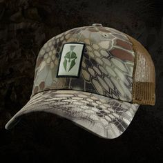 Kryptek camo trucker hat