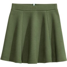 Circle Skirt $14.99 (€14) ❤ liked on Polyvore featuring skirts, bottoms, h&m, green skirt and h&m skirts