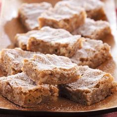 {Caramel Pecan Bars} - These are the best. I've made them twice now, so good and easy to make.